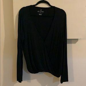 AEO Soft & Sexy Wrap Shirt